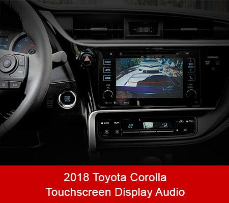 2018 Toyota Corolla Touchscreen Display Audio