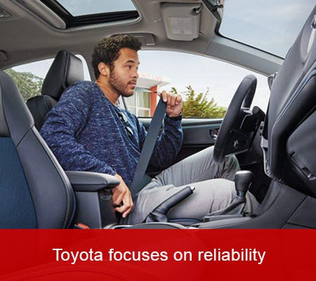 Toyota focuses on reliability