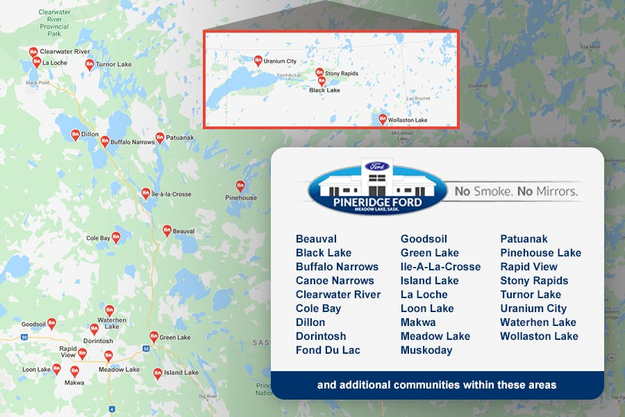 PineRidge Ford Expanded Area