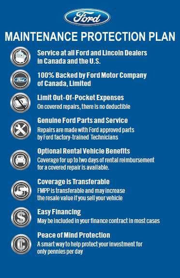 The Ford Maintenance Protection Plan Fmpp Is S Premium Prepaid