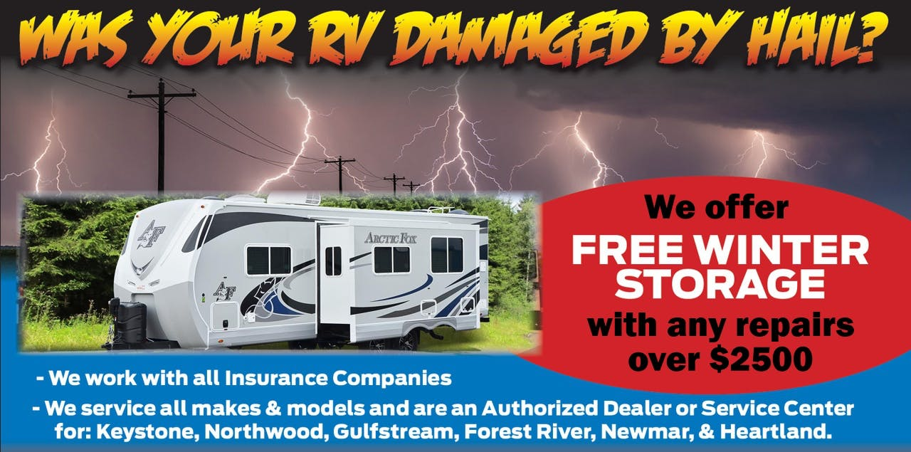 RV Hail Damage Repair