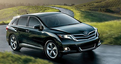 Black 2016 Toyota Venza in the country