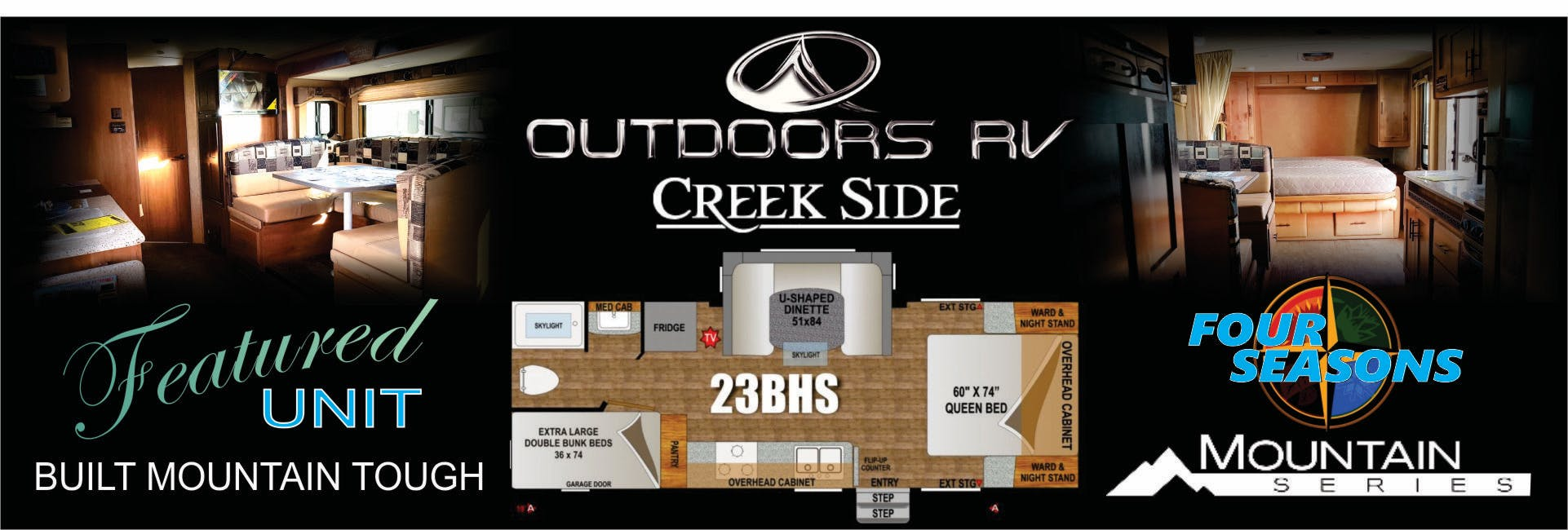 2017 Outdoors RV Creek Side interior and floor plan