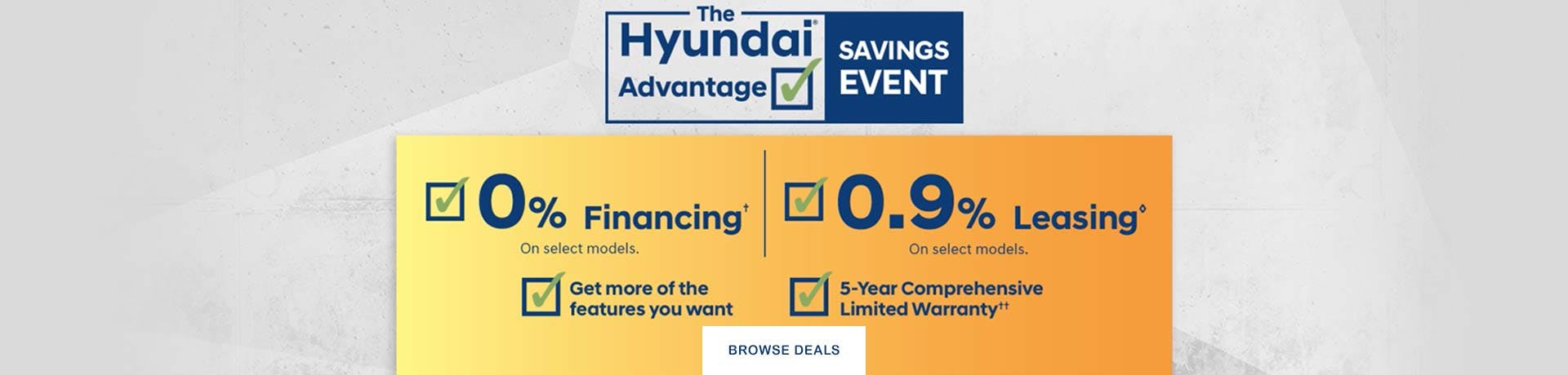 Hyundai Advantage Sales event