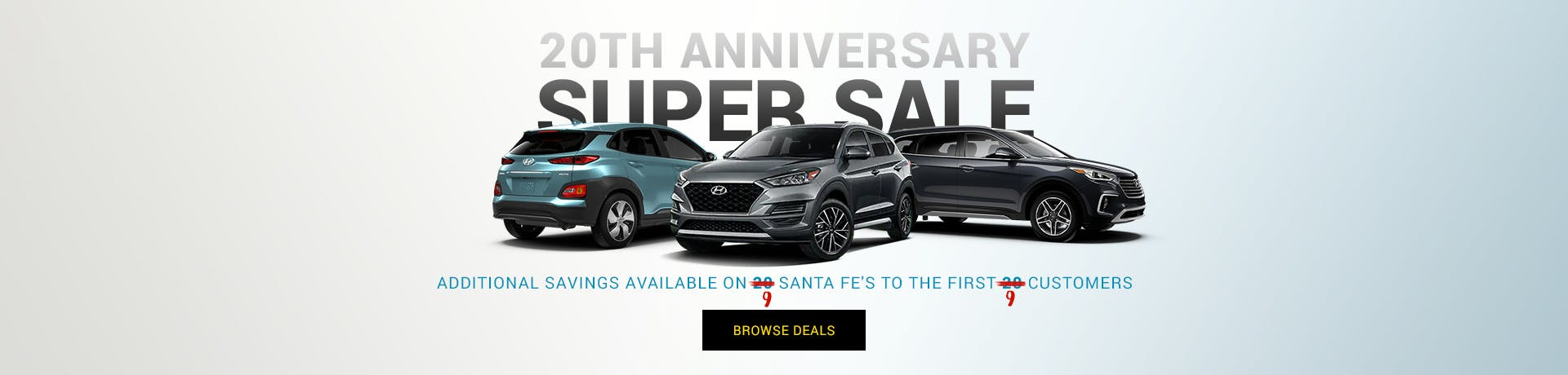 20th Anniversary Super Sale