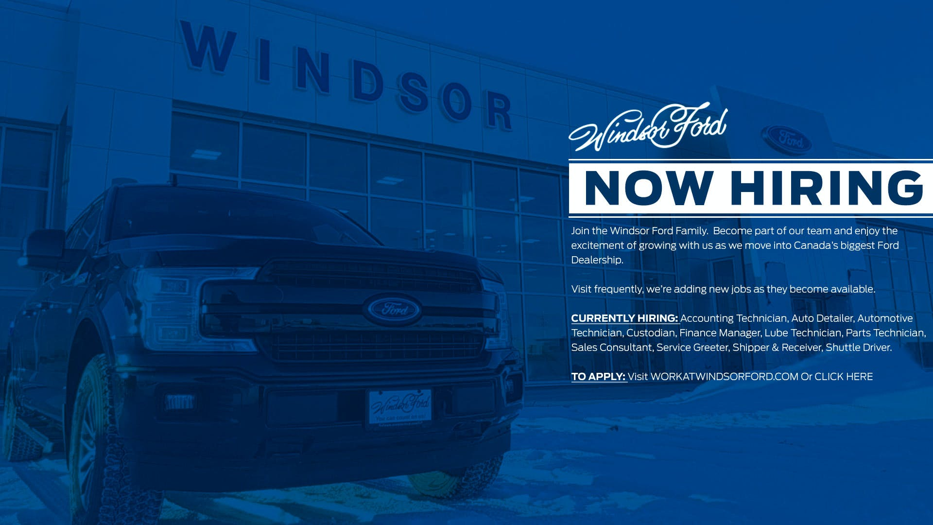 Work At Windsor Ford