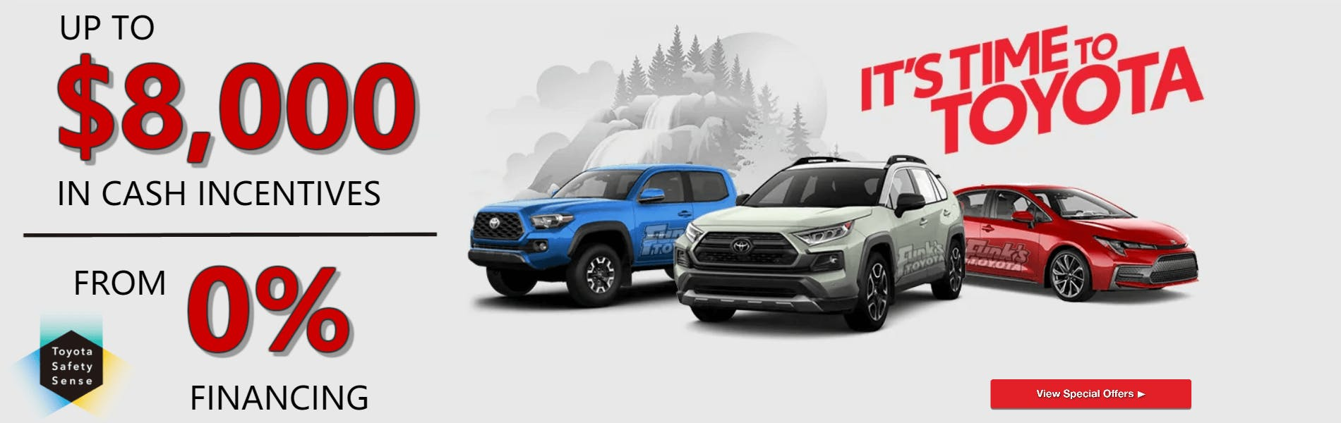 Toyota Financing Deals >> It S Time To Toyota Event