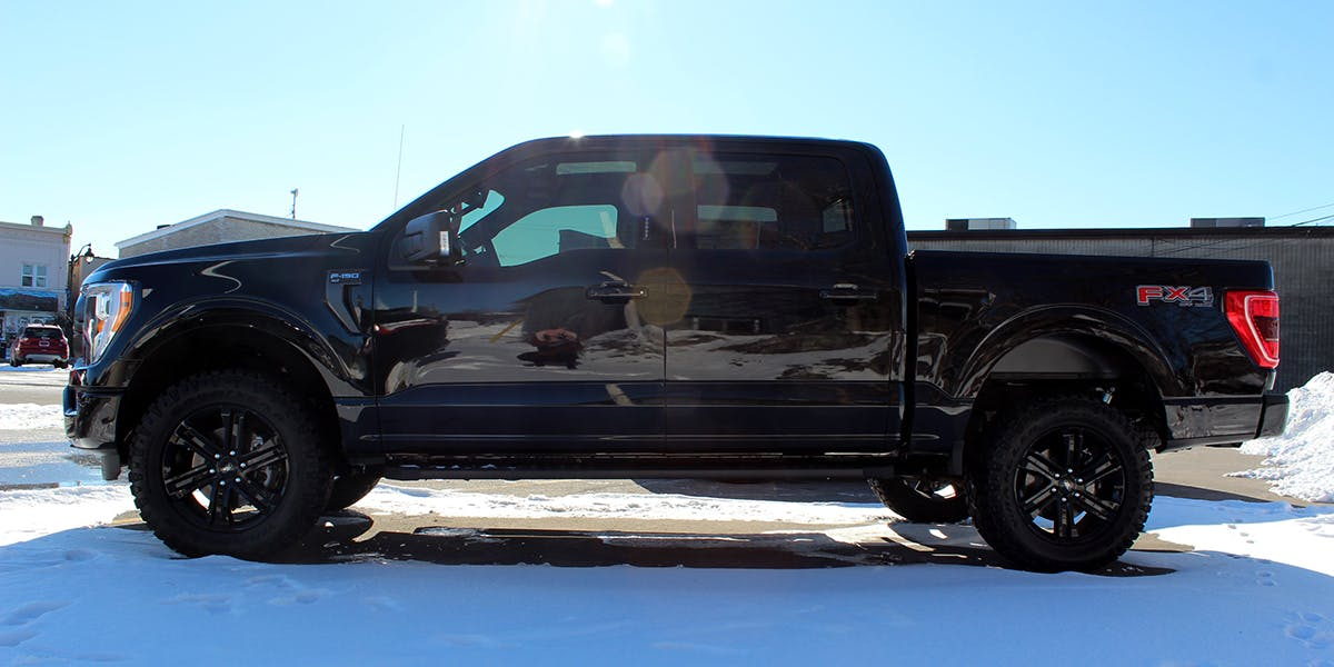 Ford f-150 profile view