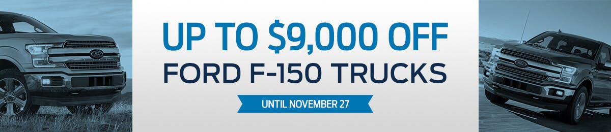 Up to $9000 Off Ford F-150 Trucks